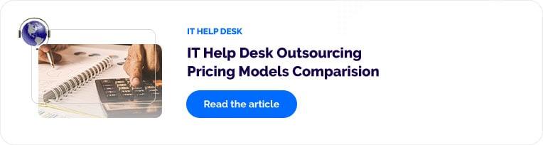 IT Help Desk Outsourcing Pricing Models Comparison